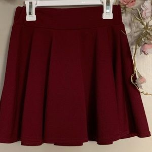 NEW Maroon A-Line Skirt in Size S